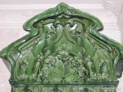 Hatalmas szecessziós MEISSENI porcelán kastély cserépkályha