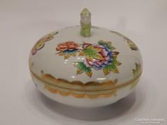 Herendi Viktória mintás bonbonier kínai figurával
