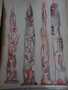 Bors István szobrász vázlatgyűjteménye