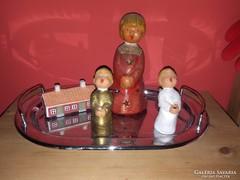 Kerámia gyűjtemény,angyalfigurák+házikó!
