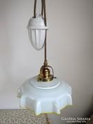 Régi fehér porcelán csigás lámpa