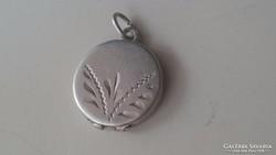 Ezüst Fényképtartós kis medalion