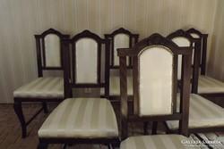 6db antik felújított neobarokk szék