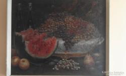 Asztali csendélet Pollák szignóval
