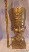 Óriás réz Egyiptomi fej szobor 3,8 Kg