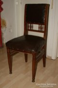 6 db antik szecessziós ebédlő szék