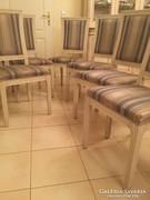 Olasz SELVA stil fehér fa 6 db szék