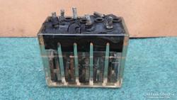 Régi üveg akkumulátor  1920 -ból
