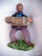 Vintage cseh üveg figura