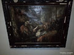 Péczely Antal sérült festménye