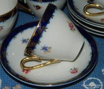 Régi PM szépséges porcelán mokkás szett 5 db, kávés készlet