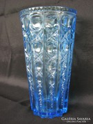 Kék üveg váza