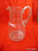 Antik metszett üveg boroskancsó 1l