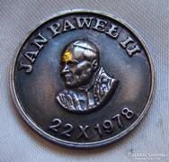 II.János Pál Pápa ezüst medál 1978 9,4gr