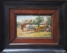 Pállya Carolus (1875-1930) Eredeti festménye
