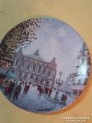Limoges festett porcelán tányér-Louis Dali-Párizsi Opera
