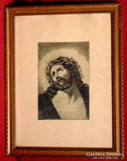Angyal / Jézus - Igényesen elkészített rézkarc munka
