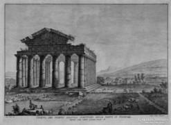 Antik romok a Nápoly környéki ásotásokon (F. Morghen 1777)