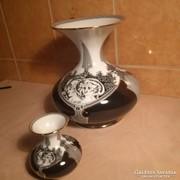 Hollóházi Jurcsák vázák 10 és 25 cm magas