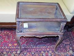 Antik bécsi barokk üveges éjjeli szekrény