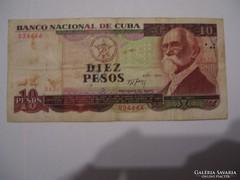 Cuba 10 Pesos 1991.