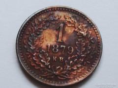 1 KRAJCÁR-F.J. 1879-UNC!!! -  RITKA!!!