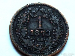 1 KRAJCÁR-F.J. 1873!!! - NAGYON  RITKA!!!