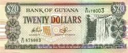 Guyana 20 dollar 2010 UNC