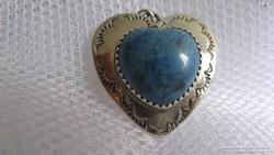 Navajo türkiz szív medál