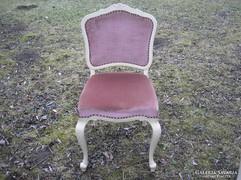 Chippendél barokk három darab szék törtfehér