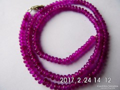 Rózsavörös rubin lánc
