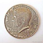 1968 U.S.A. ezüst fél dollár