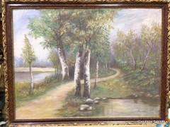 Barabás szignós-Erdei ösvény-olaj/vászon festmény