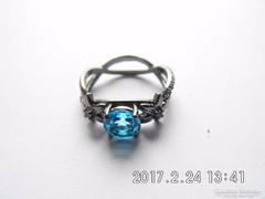 Fekete akvamarin gyűrű