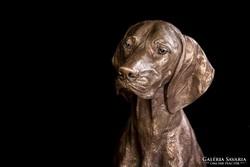 Magyar Vizsla bronz szobor életnagyságú (82 cm magas)