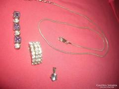 Ezüst nyaklánc 3  ezüst medál