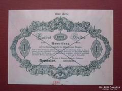 Almássy 1000 gulden 1849 - MÁSOLAT