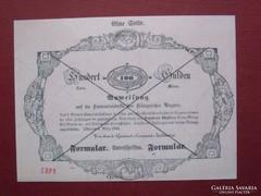 Almássy 100 gulden 1849 - MÁSOLAT