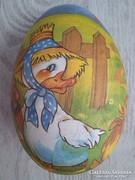 KIÁRUSÍTÁS! Hatalmas Húsvéti papírmasé régi tojás