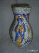Festett régi korsó Szűz Máriával