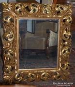 Antik Tűzaranyozott Florentin keretes tükör XIX. századból