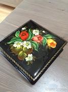 Régi orosz kézzel festett lakk doboz