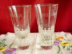 Metaxa üveg pohár 2 db nagyon nehezek!