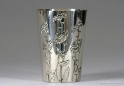 0K336 Antik jelzett ezüst keresztelőpohár