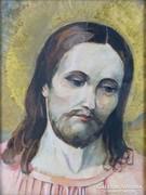 0K826 Jelzés nélkül : Jézus portré