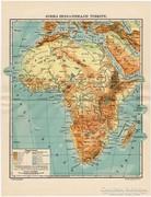 Afrika hegy és vizrajzi térkép (e) 1911, eredeti