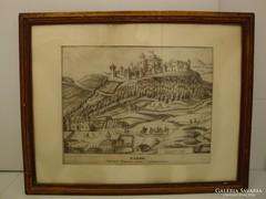 Zaros várának metszete 1835 - ből, Wien (Houfnagelius után)