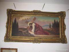 Krisztus a kereszttel festmény olaj vászon