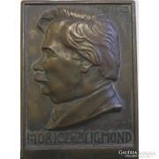 Valkó L.: Móricz Zsigmond bronz plakett
