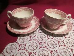 Miotts Country csésze alátét tányérral pici csorulás  0122